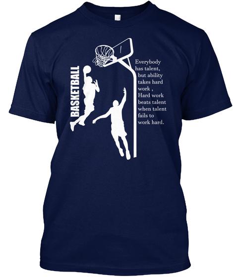 My Heart Beats For Basketball Navy T-Shirt Front