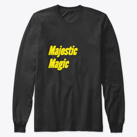 Majestic Magic Black T-Shirt Front