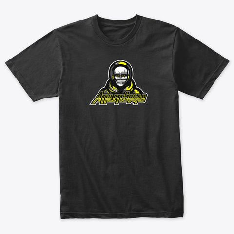 Yellow Bold Logo Vintage Black T-Shirt Front