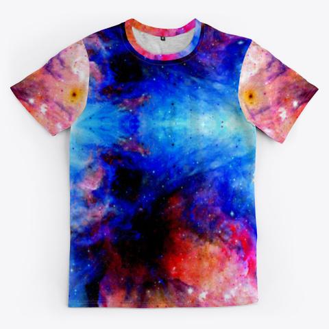 Fukuhana   Colorful Space Batik Mandala Standard T-Shirt Front