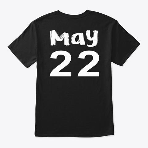 May 22   Gemini Black T-Shirt Back