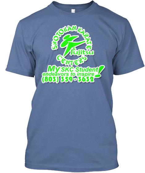 Skc Lexington's Tiger Team Sponsorship Denim Blue T-Shirt Front