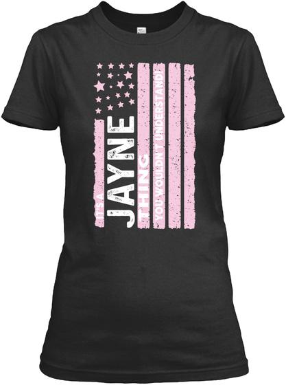 Jayne Thing, Jayne Flag Black T-Shirt Front