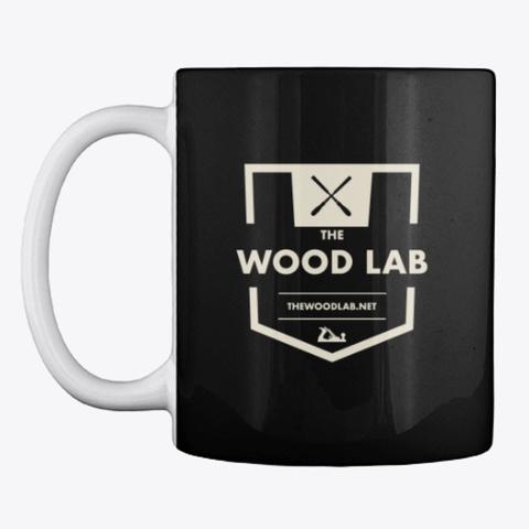 The Wood Lab Coffee Mug Black T-Shirt Front