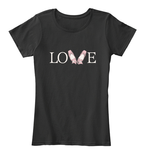 Love  Black Camiseta Feminina Front