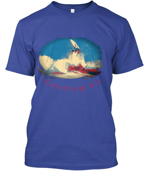 Catching Air Surfer  Surf T Shirts Men Deep Royal T-Shirt Front