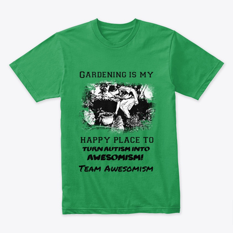 Awesome Gardening Kelly Green T-Shirt Front