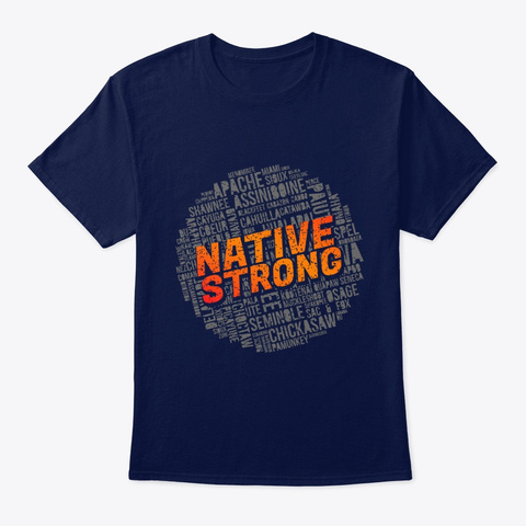 Native Strong Navy T-Shirt Front