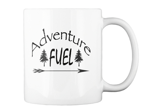 Adventure Fuel White Mug Back