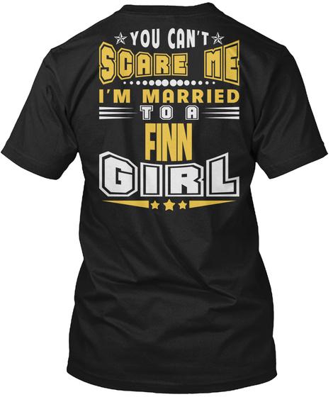 You Can't Scare Me Finn Girl T Shirts Black T-Shirt Back