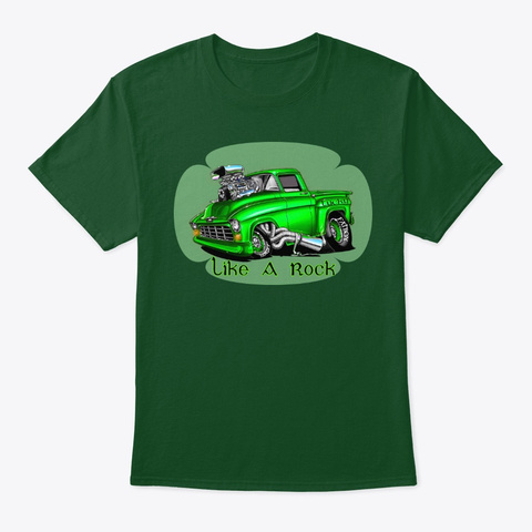 American Classic Muscle Truck Tee Shirt Deep Forest Camiseta Front