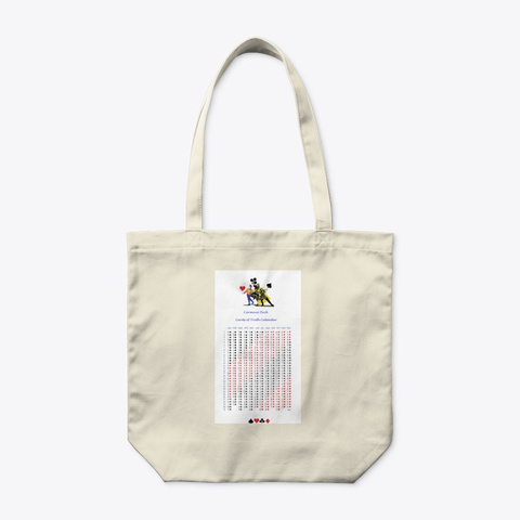 Cards Of Truth Calendar Tote Natural T-Shirt Front