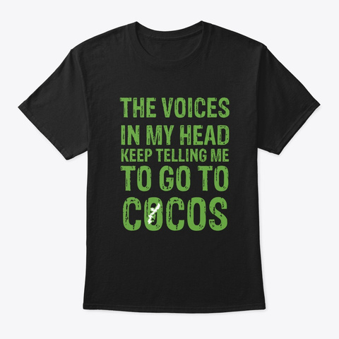 Voices In My  Head ... Cocos Curry Rice  Black T-Shirt Front