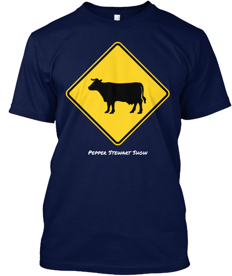 Pepper Stewart Show  Navy T-Shirt Front