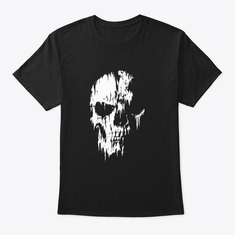 Tattered Skull T Shirt Black T-Shirt Front