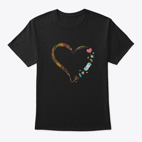 ✅Awesome Yarn Heart Birthday Shirt Sewin Black T-Shirt Front