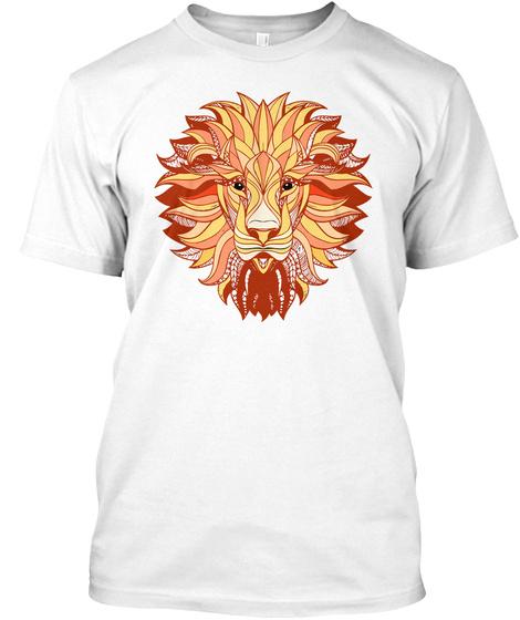 Aztec Tiger Shirt White T-Shirt Front