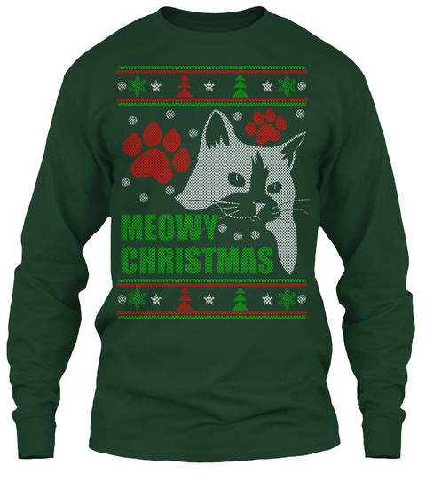 Meowy Christmas Ugly Sweater - meowy christmas Products from ...