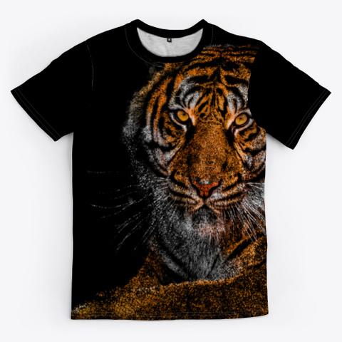 King Tiger Black T-Shirt Front