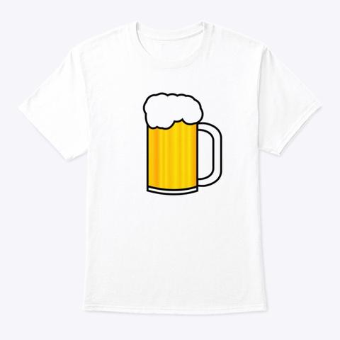 Beer Mug White T-Shirt Front