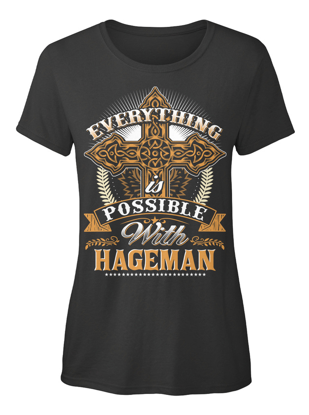 Everything-Possible-With-Hageman-T-shirt-Elegant-pour-Femme