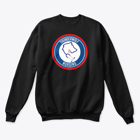 T Wolf Nursing Black T-Shirt Front