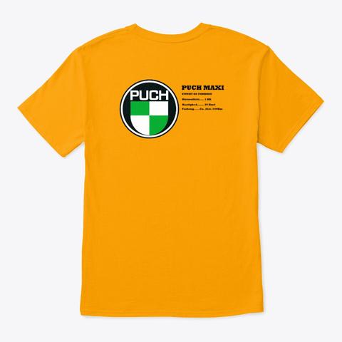 Puch Maxi  Gold T-Shirt Back