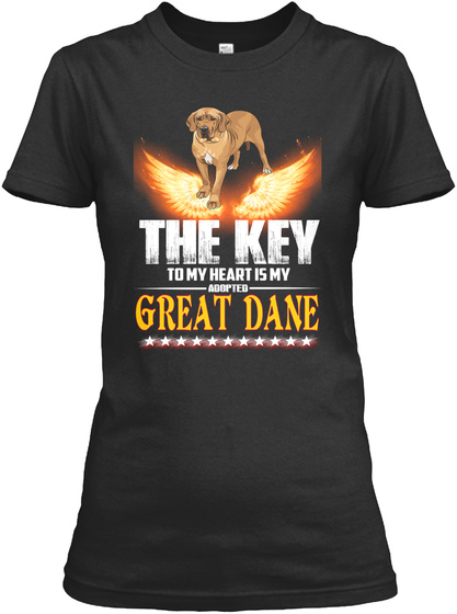 I'm So In Love With Great Dane Black T-Shirt Front