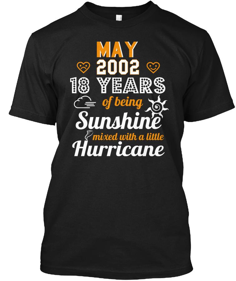 18th Wedding Anniversary May 2002 Unisex Tshirt