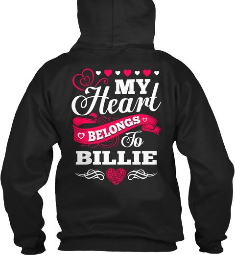 My Heart Belongs To Billie Black T-Shirt Back