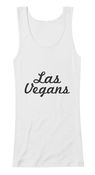 Las   Vegans White Women's Tank Top Front