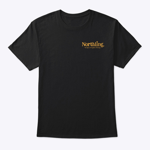 Northling™ Nightlife Wolf   Style 2 (Ob) Black T-Shirt Front