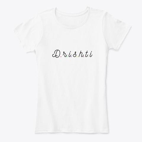 Yoga Dristhi T Shirt  White T-Shirt Front