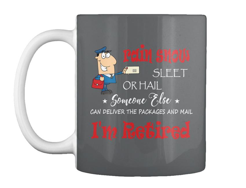 miniature 7 - Funny Retired Postal Worker Mailman Tee - Rain Suck Sleet Or Gift Coffee Mug