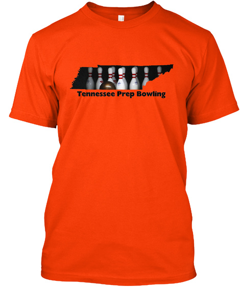 Tennessee Prep Bowling Orange T-Shirt Front