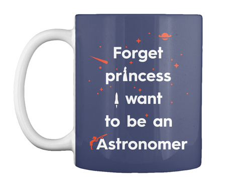 Forget Princess 2 Mug [Int] #Sfsf Dark Navy Mug Front