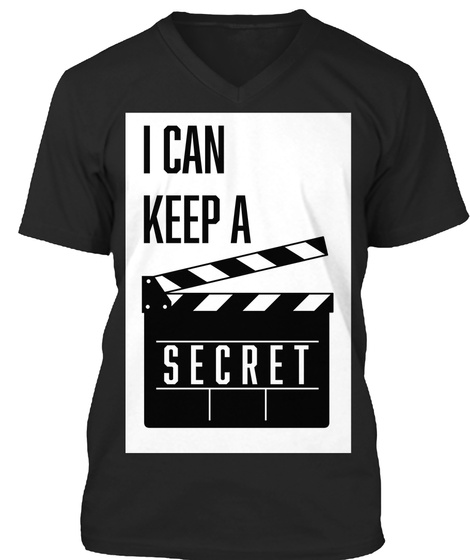 Super Secret Film Shirts  Black T-Shirt Front