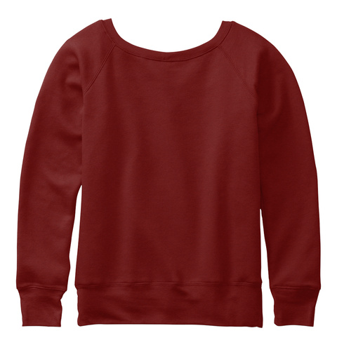 Ugly Hi Def Dog Sweater Dark Red Triblend Sweatshirt Back
