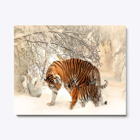 Animal Photography   Tiger And Cub Standard T-Shirt Front