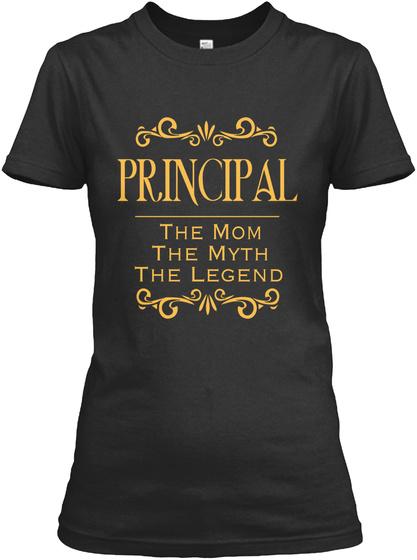 Principal The Mom The Myth The Legend  Black Camiseta Front