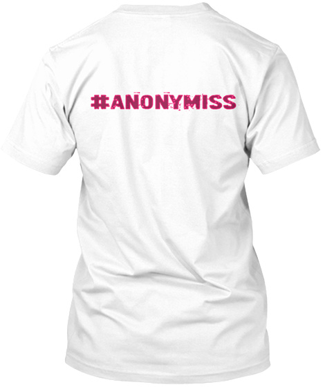 #Anonymiss White T-Shirt Back