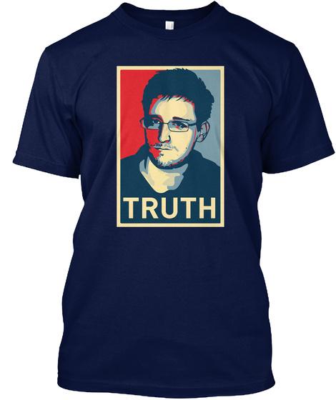 Snowden   Truth Navy T-Shirt Front