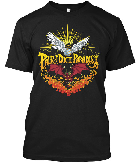 So Metal   Pair Of Dice Paradise Black T-Shirt Front