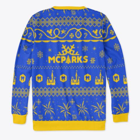 "Mc Parks ""Ugly"" Christmas Sweater Royal Blue T-Shirt Back"