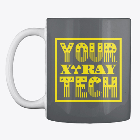Your X Ray Tech™ Star & Stripes  Dark Grey T-Shirt Front