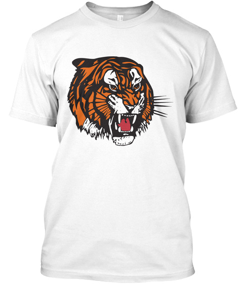 The Tiger All Round White T-Shirt Front