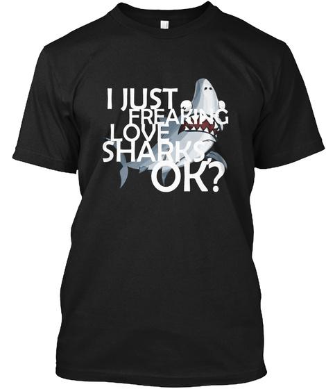 Poisson Requin Black T-Shirt Front