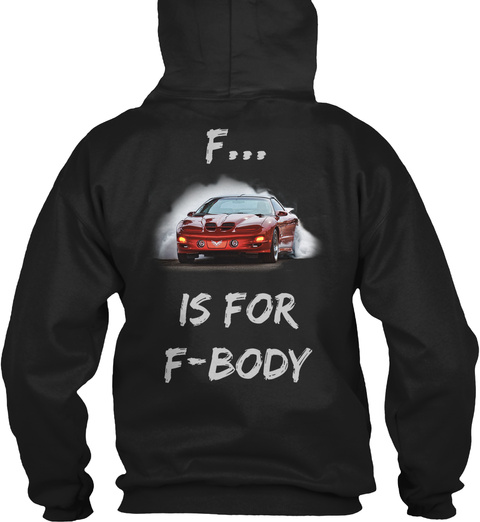 F... Is For F Body Black T-Shirt Back