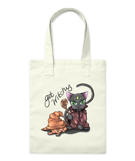 Get Witchy Natural Tote Bag Front