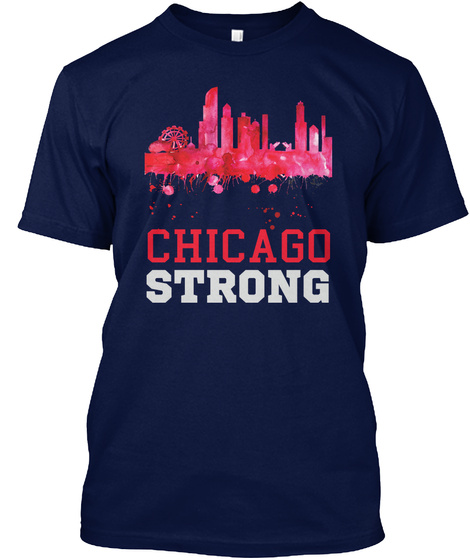 Chicago Shootings T Shirt Navy T-Shirt Front